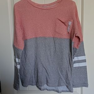 Pink and grey dreamer sweater